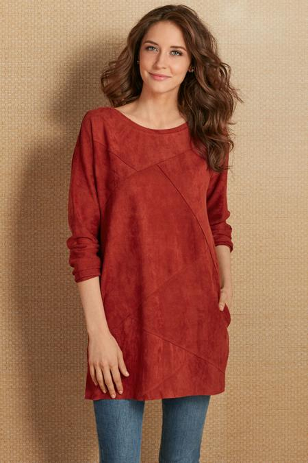 Felicity Faux Suede Tunic