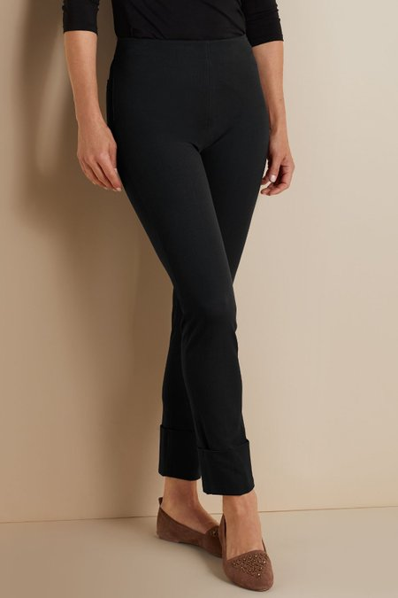 Cotton Stretch Cuff Pants