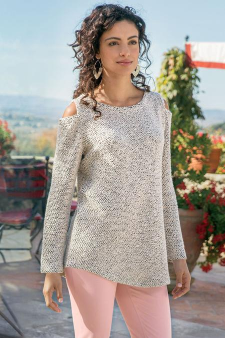 Starlight Cold Shoulder Pullover