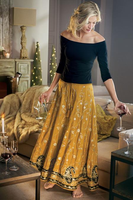 Petites Samaira Embellished Skirt