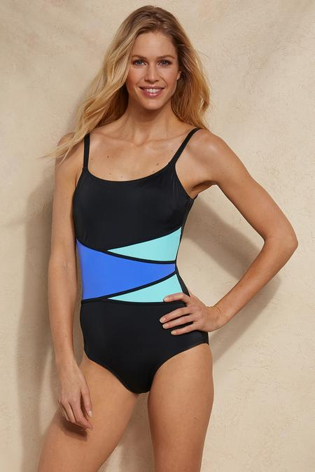 Fit 4 U Colorblock Swimsuit
