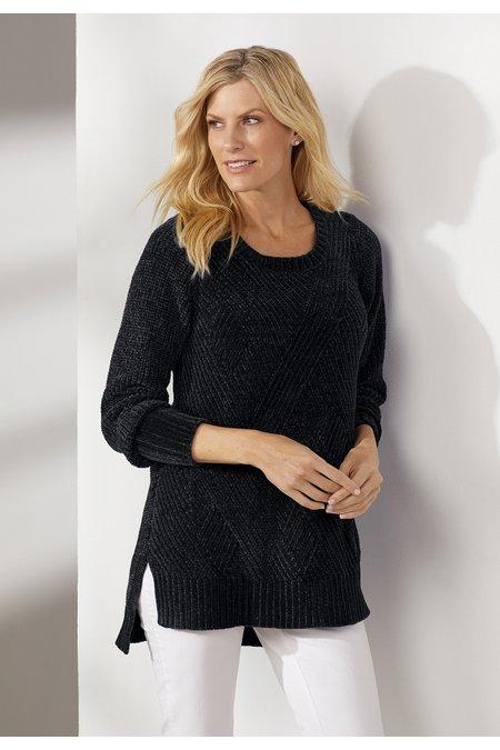 Women Deco Chenille Pullover