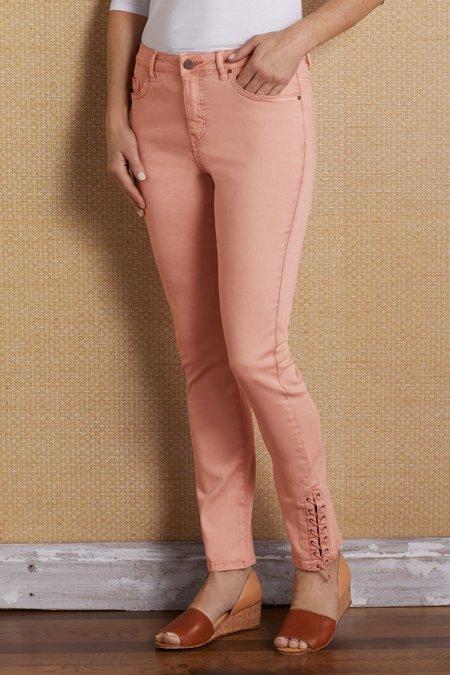 Laced Hem Jeans