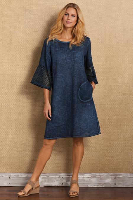Franca Crochet Sleeve Dress