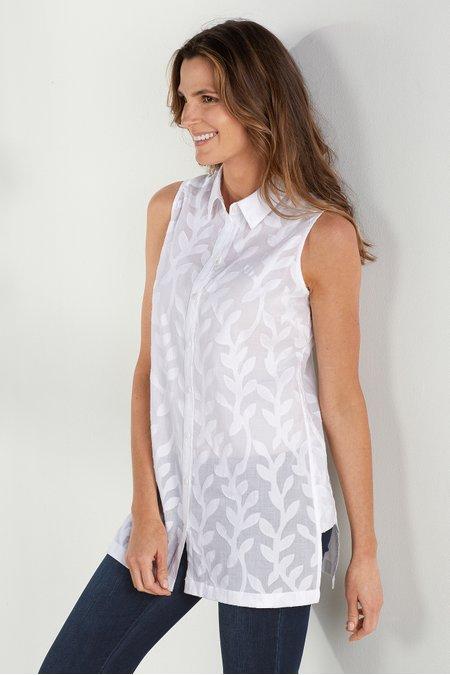 Winding Vine Sleeveless Shirt