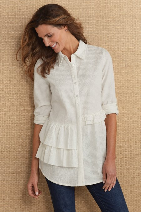 Adley Ruffle Shirt