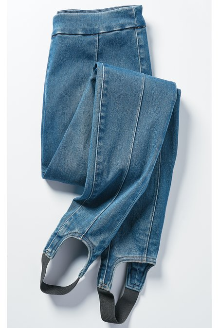 Denim Lean Line Stirrup Pants