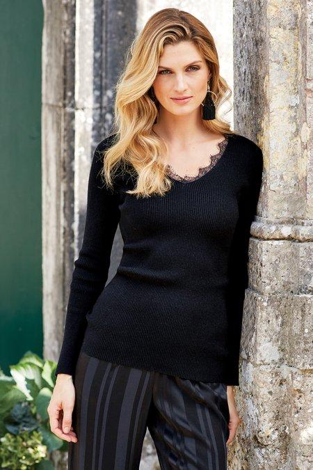 Laeticia Lace Trim Sweater