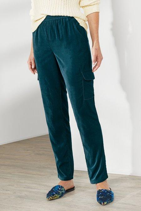 Petites Velvet Cargo Pants