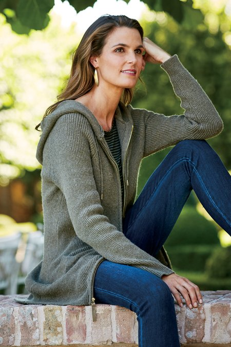 Women Sweater Zip Hoodie