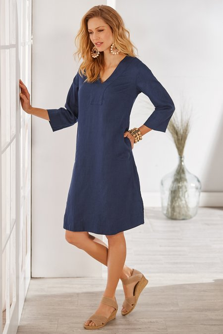 Petites Zarina Linen Dress