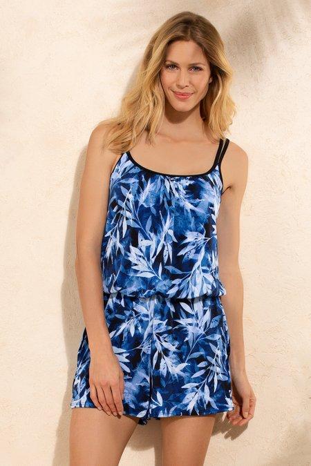 Palm Print Romper