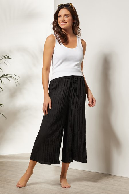 Packable Crinkle Coverup Pants