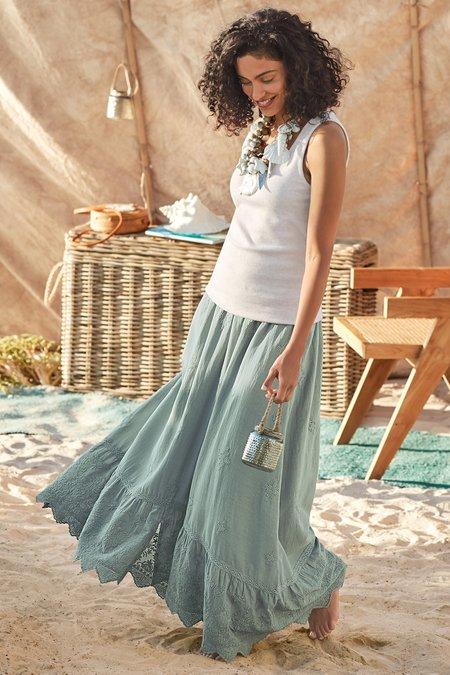 Petites Victorian Maxi Skirt