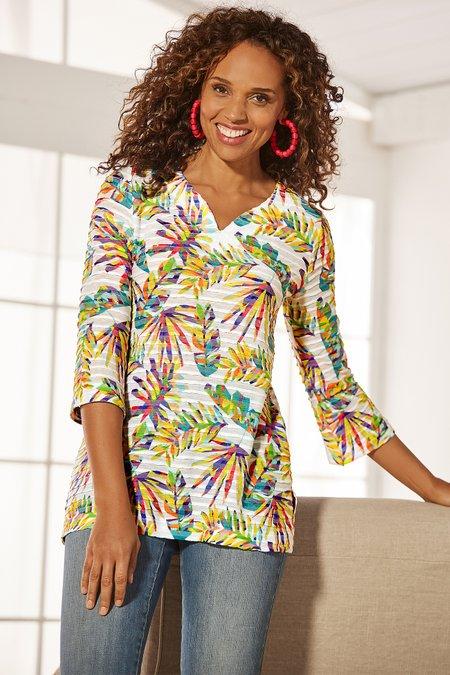 Women Rainbow Canopy Tunic