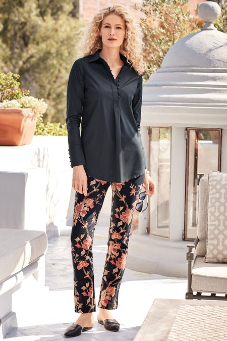 Indian Rose Ponte Pants
