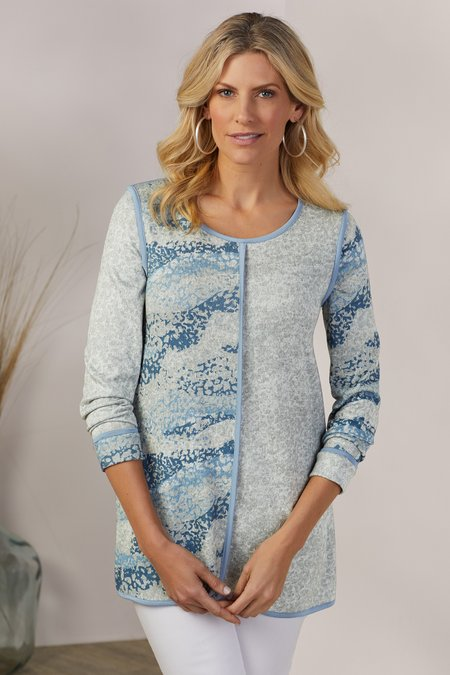 Printed Piped Tunic
