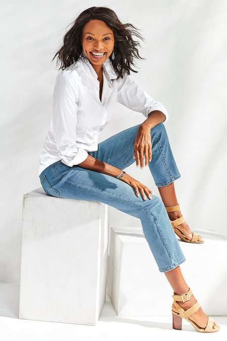 Petites The Ultimate Straight Cropped Jeans
