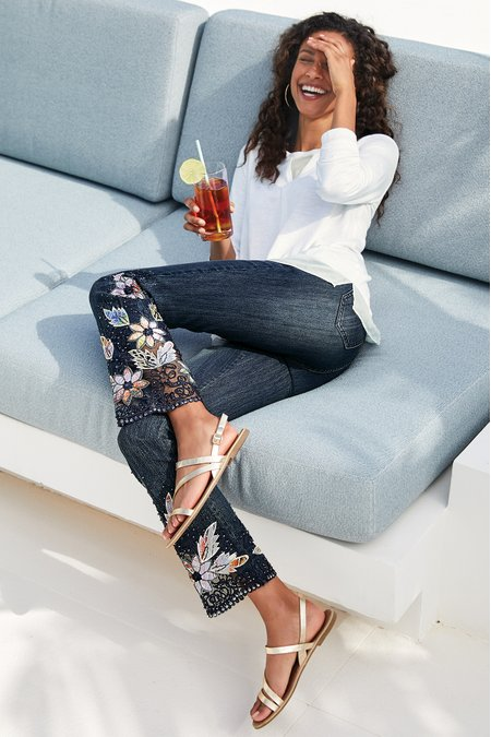 Women Wild Rose Jeans