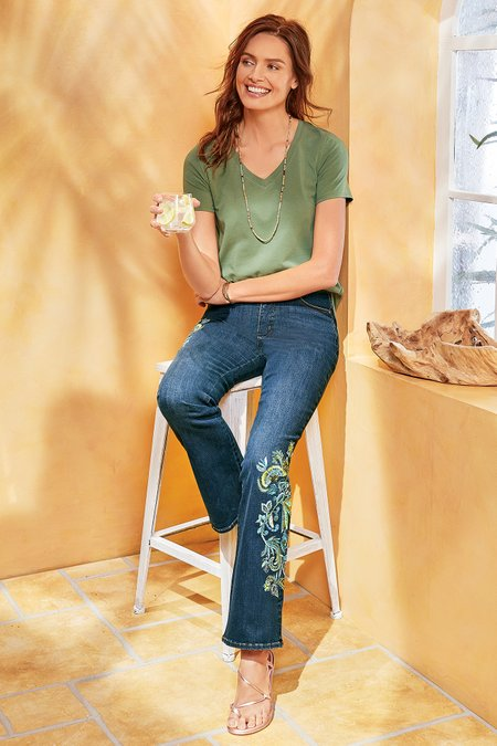 The Ultimate Embellished Bootcut Jeans I
