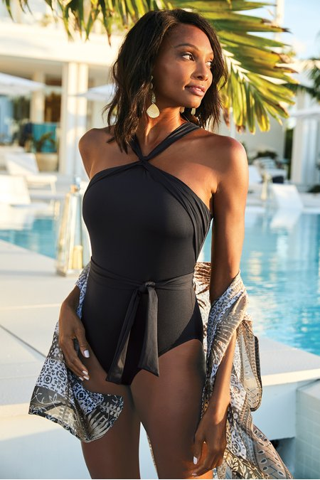 La Blanca Island Goddess High Neck Swimsuit