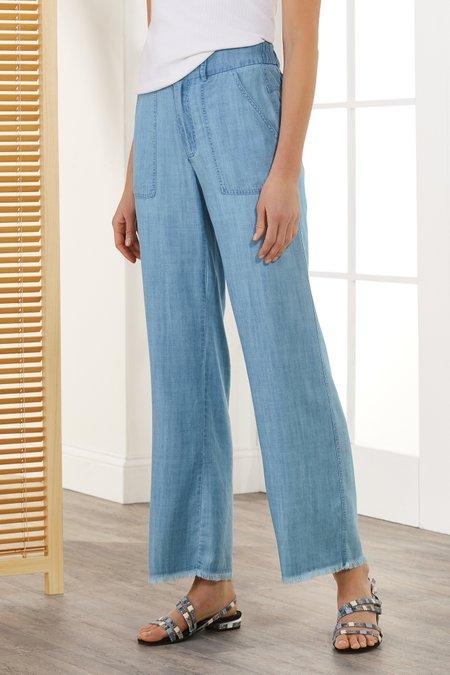Fringe Bottom Wide Leg Jeans
