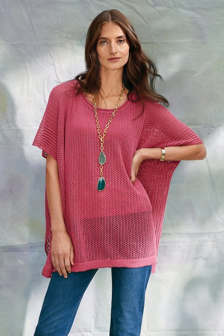 Women Dolman Sweater Poncho & Tank