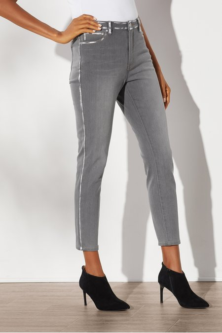 Ultimate Denim High-Rise Foil Skinny Jeans