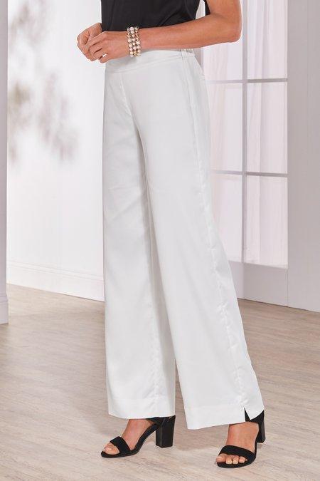 Lyra Satin Wide Leg Pants