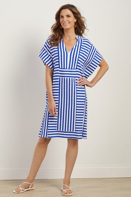 Idle Hour Mixed Stripe Coverup