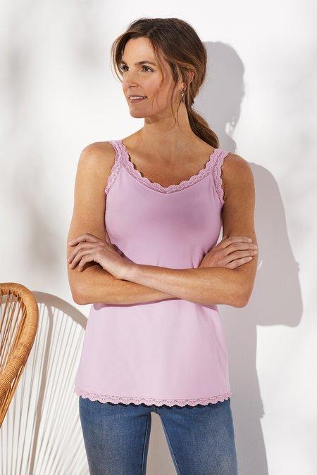 Essential Lace Pima Tank