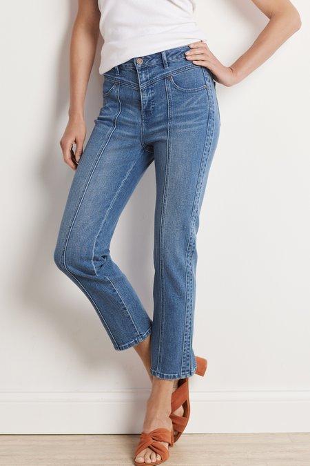 Ultimate Denim High Rise Yoke Crop Jeans