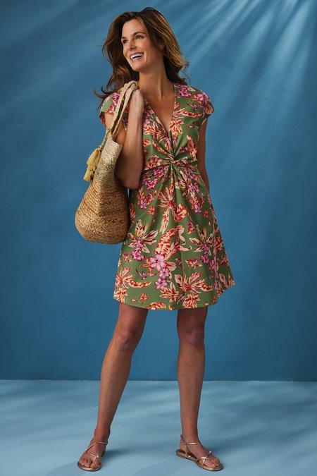 Thalassa Cap-Sleeve Swim Dress