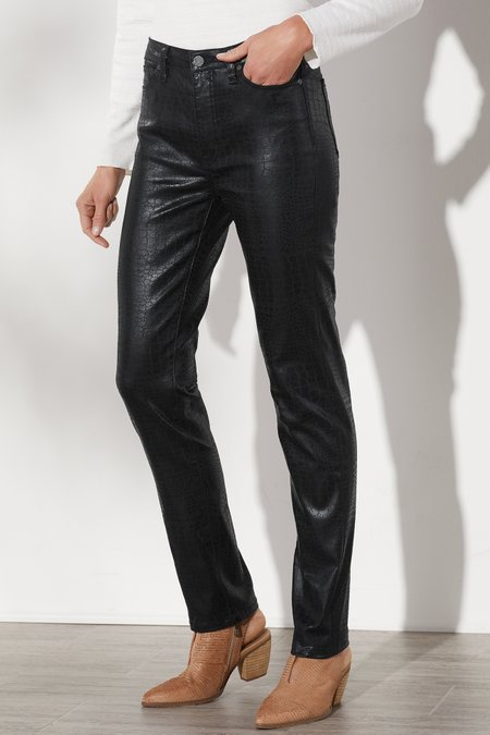 The Ultimate Denim Croco High Rise Skinny Jeans