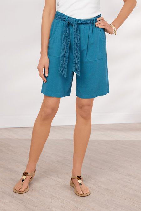 Summer Breeze Solid Gauze Shorts