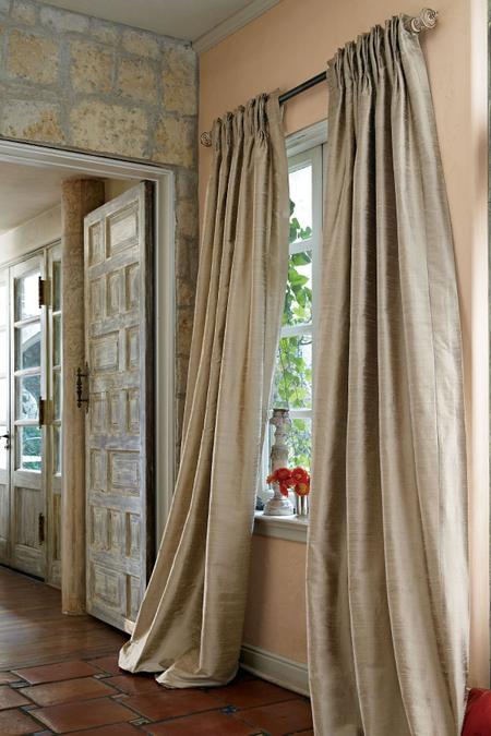 Silk Provencal Pleated Drapery Panel