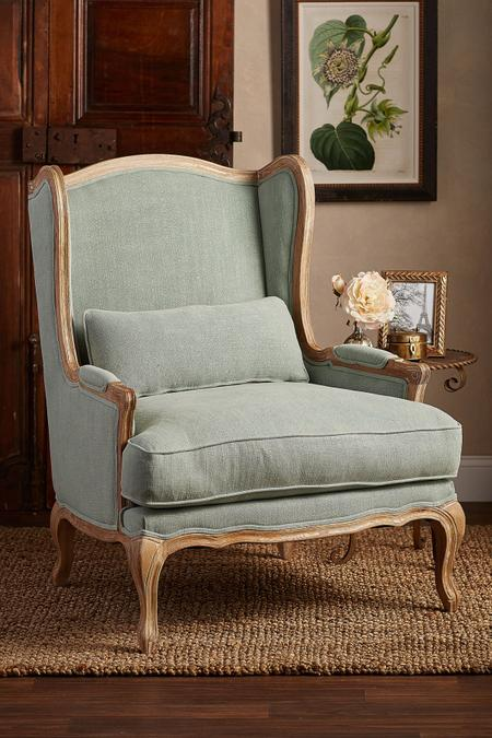 Limoges Ladies Chair   Wingback Chair, Linen Wingback Chair | Soft  Surroundings Outlet