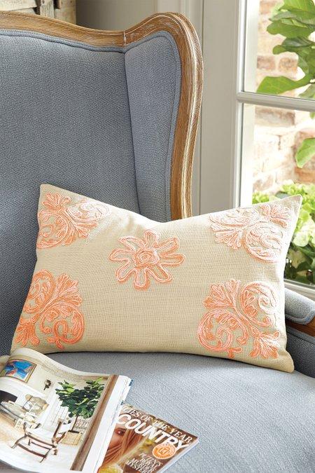 Brighton Crewel Pillow