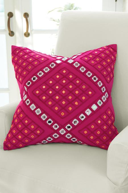 Cerise Mirrored Pillow