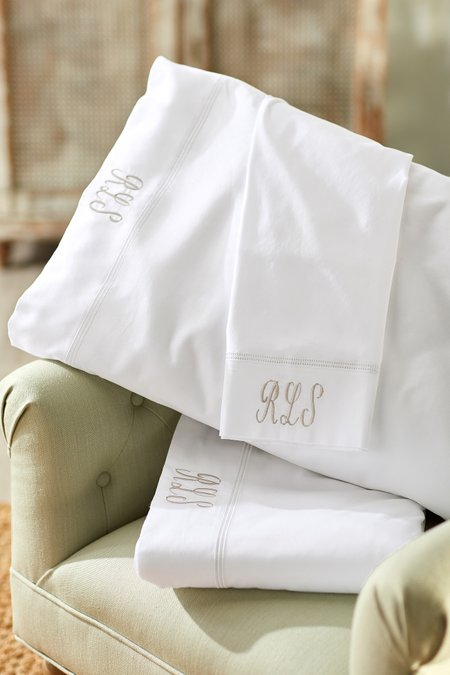 Olivia Double Hemstitch Sheet Set
