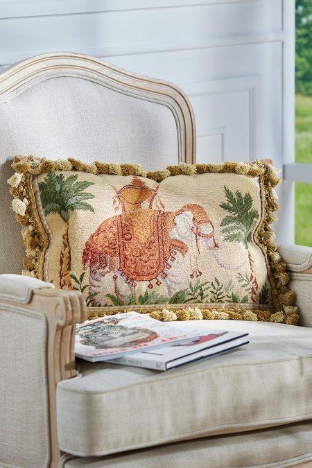 Raja Needlepoint Pillow