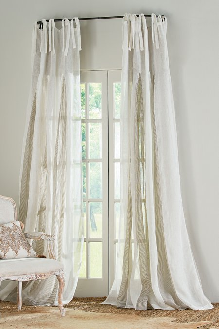 Elysée Inverted Pleat Linen Panel