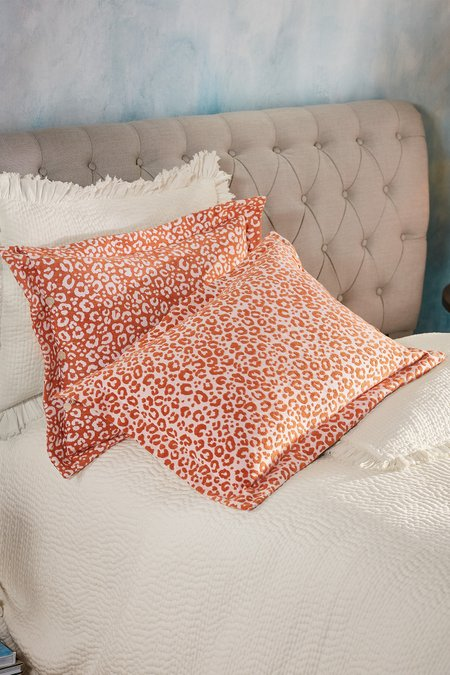 Leopard Chenille Bed Sham