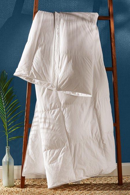 European White Goose Down Comforter