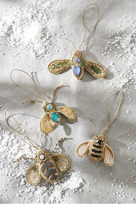 Beaded Bee Ornaments