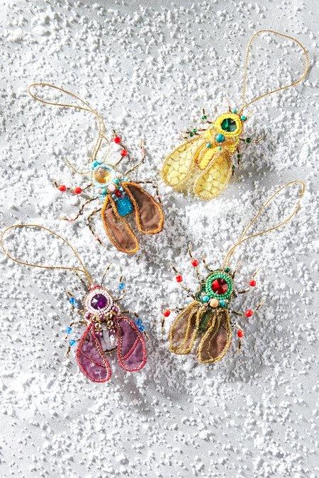 Beaded Beetle Ornaments