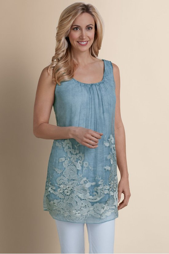 c09e80c5654 Silk Sophia Tunic - Chiffon Tunic, Chiffon Top | Soft Surroundings