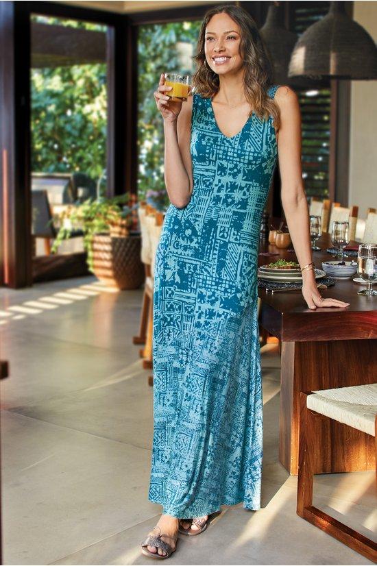 a961060d0c44 Tulum Maxi Dress - Tribal Maxi Dress | Soft Surroundings