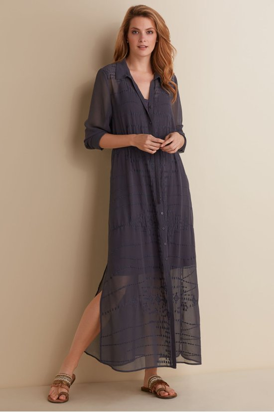 Ibiza Dress Amp Slip Maxi Shirtdress Georgette Dress