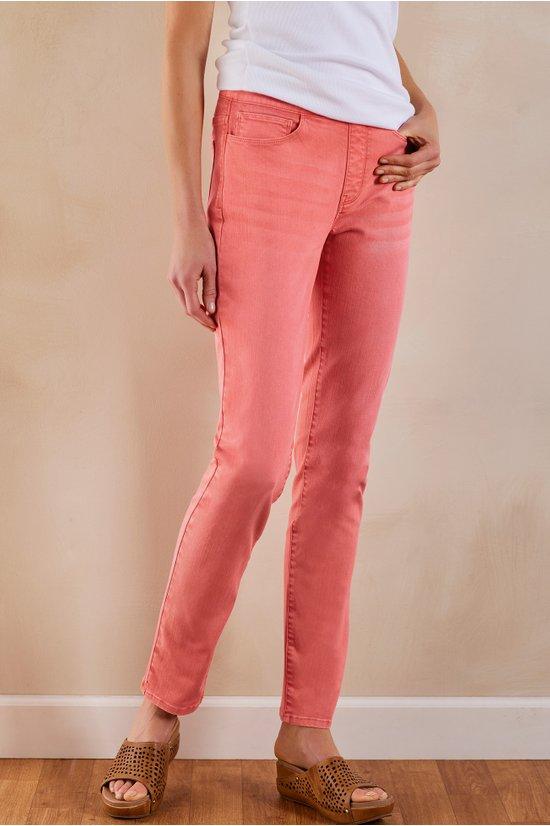 New Women/'s Skinny Stretch Jeans Slim Fit Belt Size 6 8 10 12 14 XS S M L XL